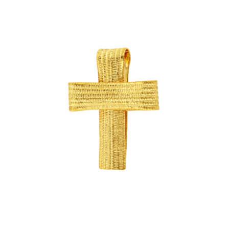 Χειροποίητος Γυναικείος Σταυρός 14Κ