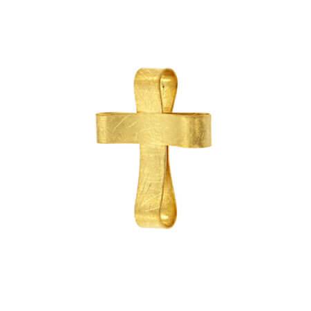 Χειροποίητος Σταυρός 14 Καράτια Βάπτιση Αρραβώνας