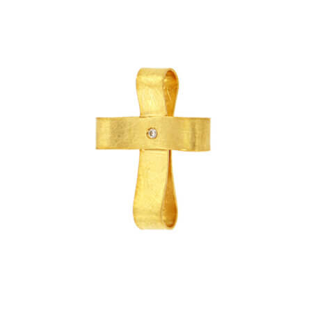 Χειροποίητος Σταυρός 14 Καρατίων Κίτρινο Χρυσό Χρώμα Ζιργκόν Γυναικείος