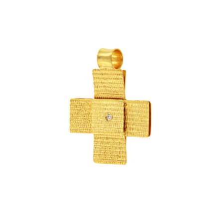 Χειροποίητος Σταυρός 14Κ Γυναίκα Κορίτσι