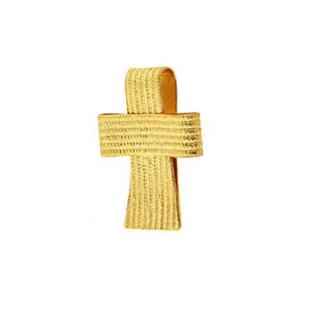 Χρυσός Χειροποίητος Σταυρός Βάπτιση 14Κ