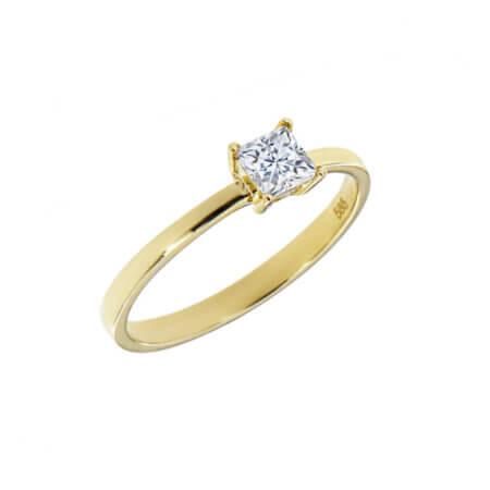 Δαχτυλίδι Μονόπετρο Με Ζιργκόν 14Κ Γυναικείο Κόσμημα Δώρο