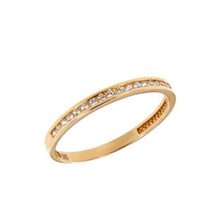 Κίτρινο Χρυσό 14Κ Γυναικείο Δαχτυλίδι Μισόβερο