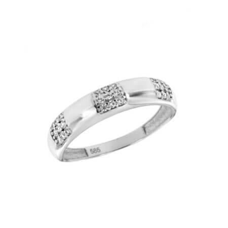 Λευκόχρυσο Δαχτυλίδι 14 Καράτια Ζιργκόν Γυναικείο Δώρο