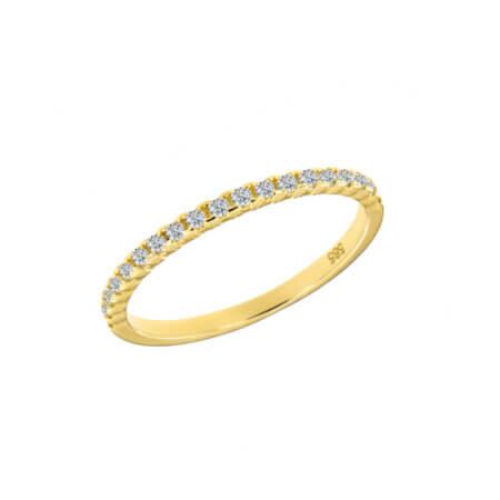 Μισόβερο Δαχτυλίδι Χρυσό 14 Καρατίων Ζιργκόν Κόσμημα Γυναικείο Δώρο