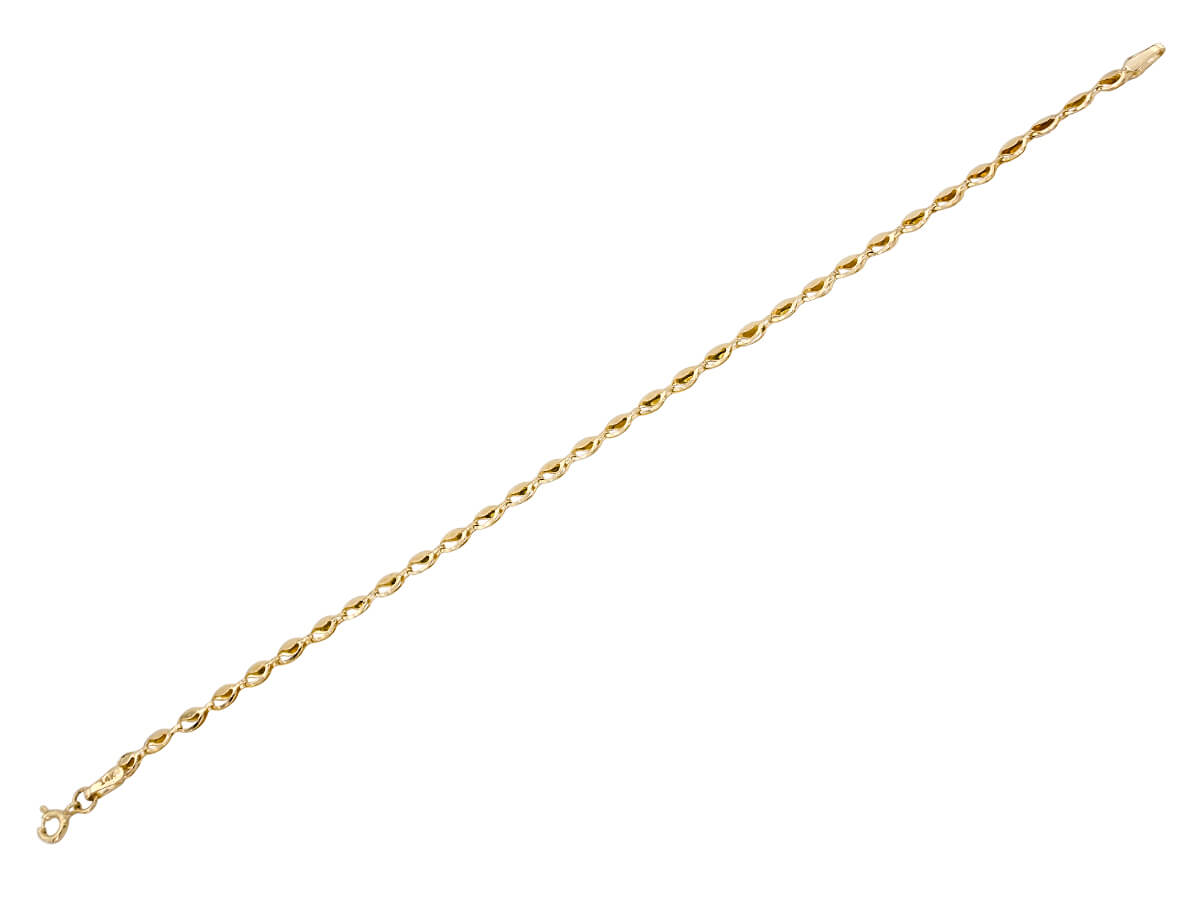Γυναικείο Χρυσό Βραχιόλι 14 Καράτια