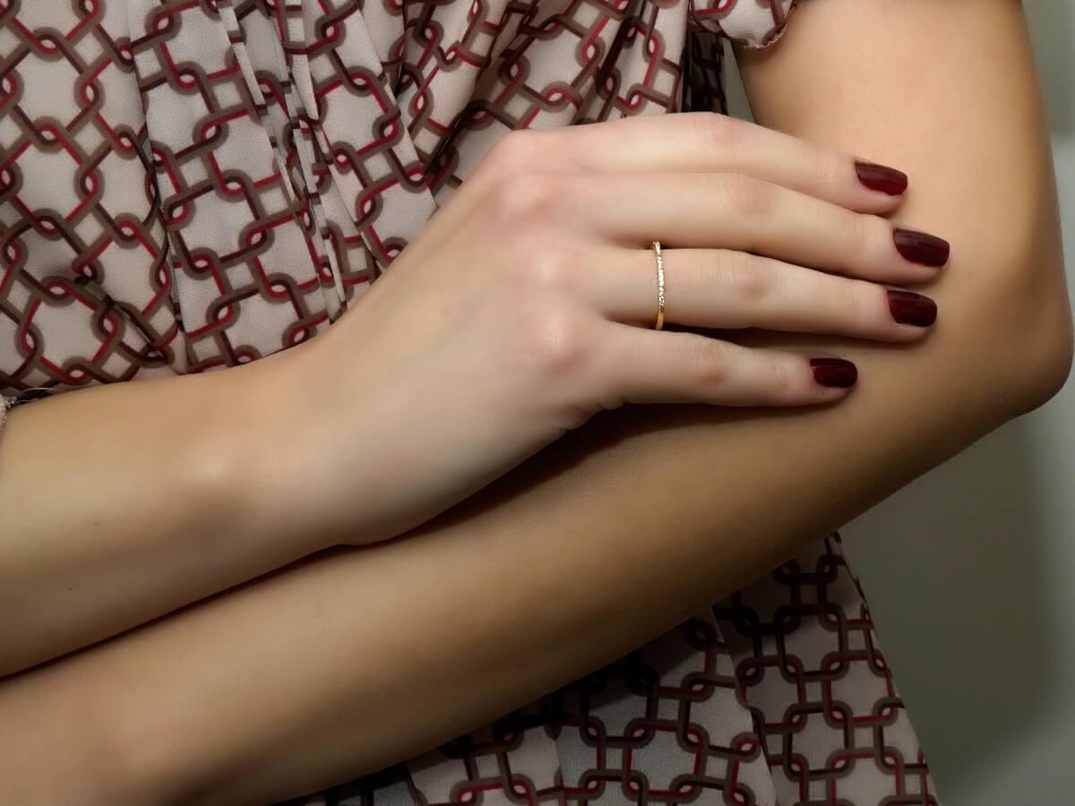 Μισόβερο Δαχτυλίδι Χρυσό 14 Καράτια Ζιργκόν Πέτρες Γυναικείο