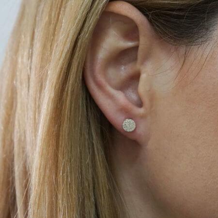 Ροζέτες Γυναικεία Χρυσά Σκουλαρίκια Καρφωτά 14Κ