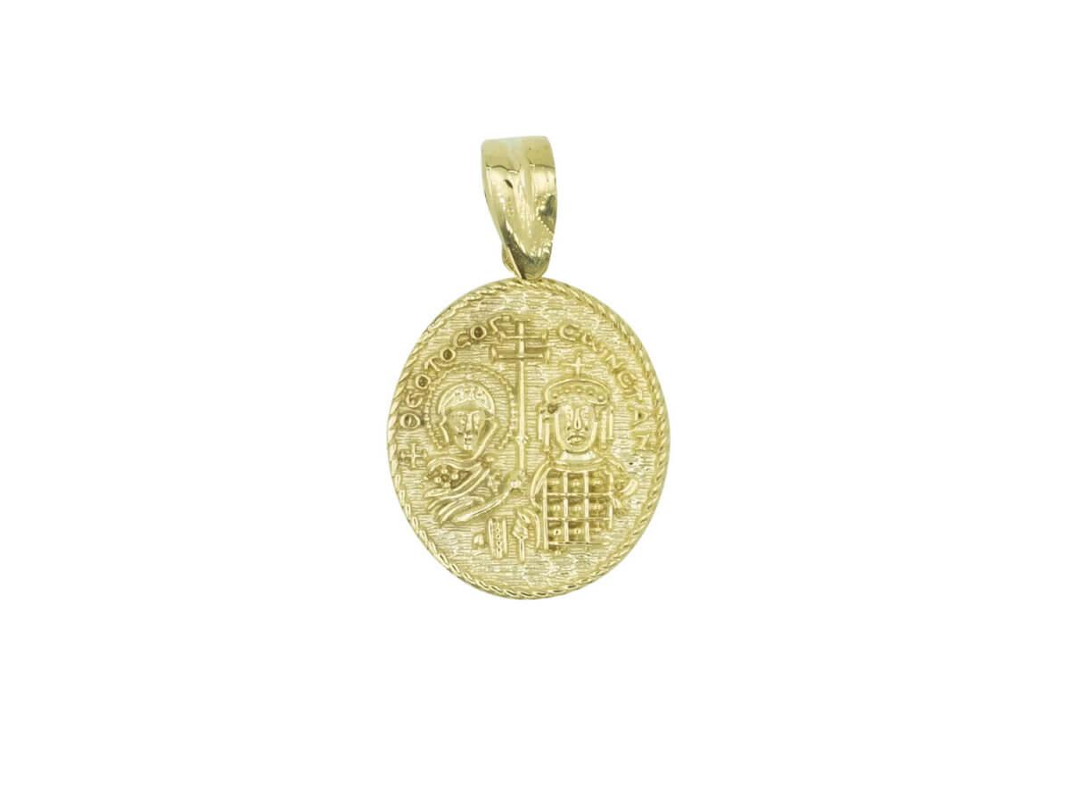 Χρυσό Φλουρί Κωνσταντινάτο 9Κ Διπλής Όψεως Γυναίκα Κορίτσι
