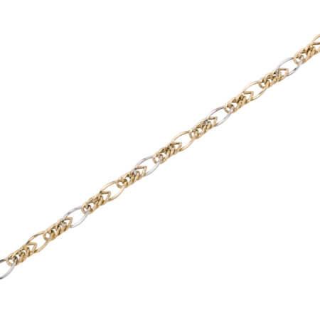 Χρυσό Γυναικείο Βραχιόλι Λευκόχρυσα Στοιχεία 14 Καράτια