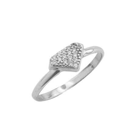 Ασημένιο Δαχτυλίδι με Ζιργκόν Πέτρες 925