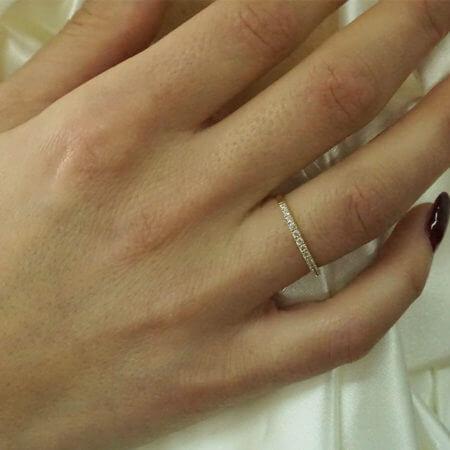 Κίτρινο Χρυσό Μισόβερο Γυναικείο Δαχτυλίδι