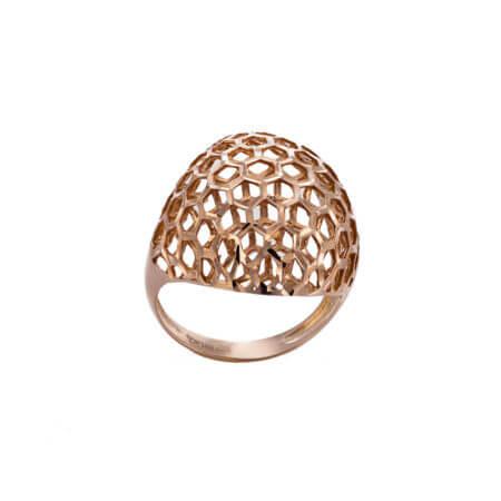 Δαχτυλίδι με Ροζ Επιχρύσωμα από Ασήμι 925 Γυναικείο