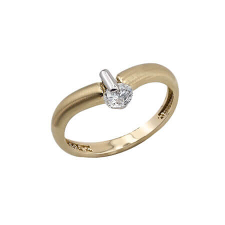Χρυσό Γυναικείο Δαχτυλίδι 14 Καράτια Κεντρική Ζιργκόν Πέτρα