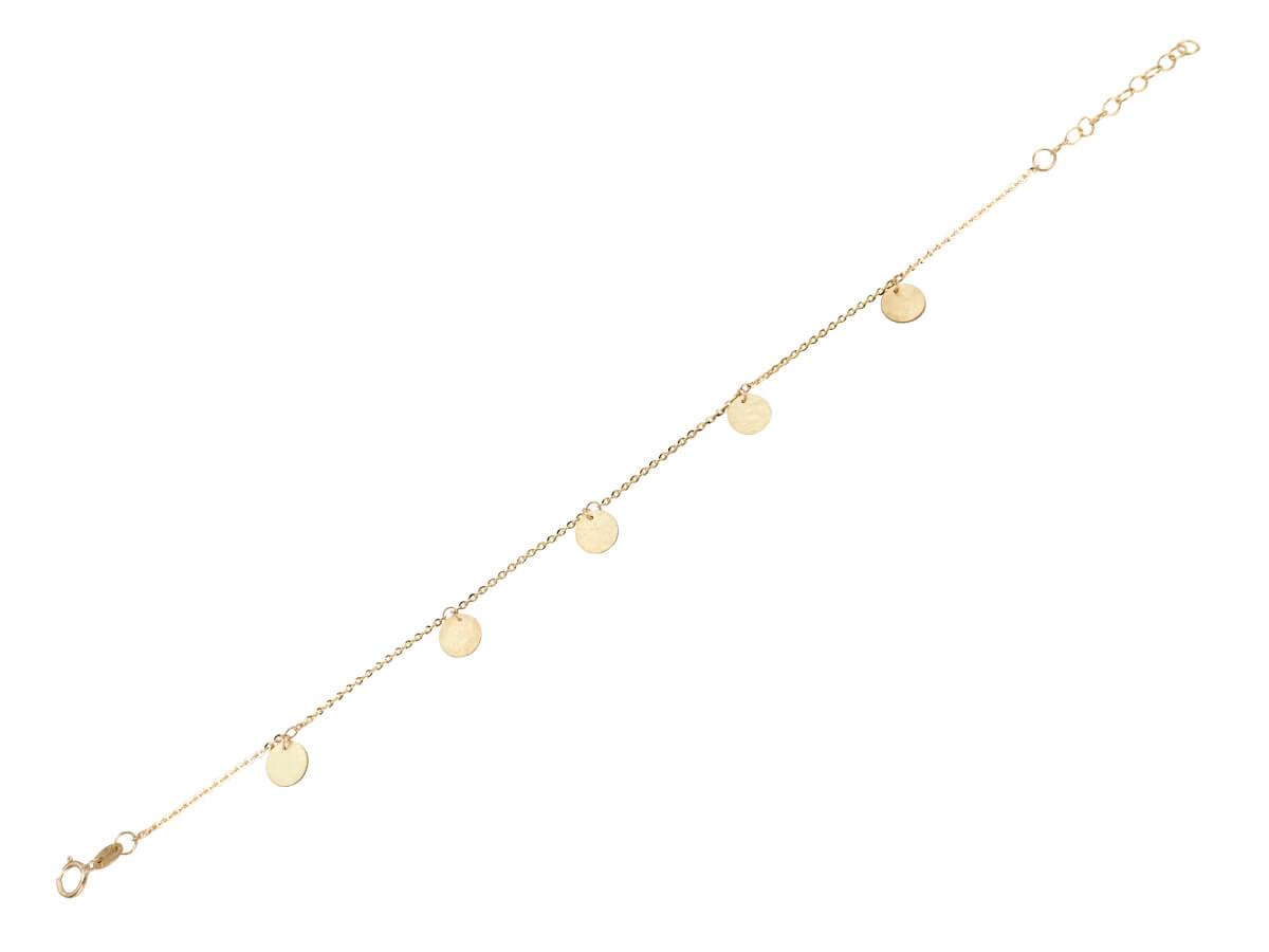 Χρυσό Βραχιόλι 9 Καράτια Κυκλικά Μοτίφ