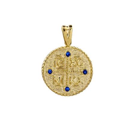 Χρυσό Μενταγιόν Κωνσταντινάτο 9 Καράτια