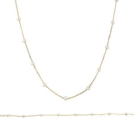 Χρυσό Σετ 9 Καράτια Με Μαργαριτάρια Κολιέ Βραχιόλι