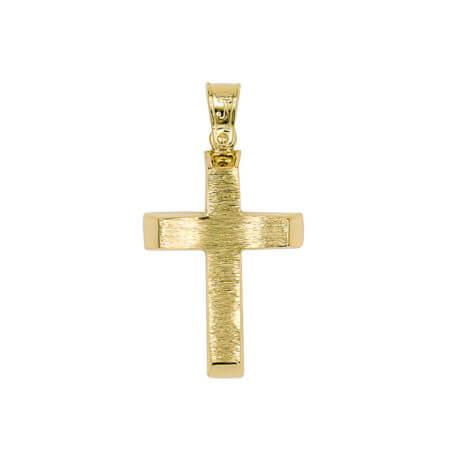 Χρυσός Σταυρός Διπλής Όψης 14 καράτια Βάπτιση Ιησού Χριστού