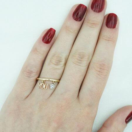 Γυναικείο Χρυσό 14 Καρατίων Δαχτυλίδι Στοιχεία Ροζ Χρυσό Ζιργκόν Πέτρες