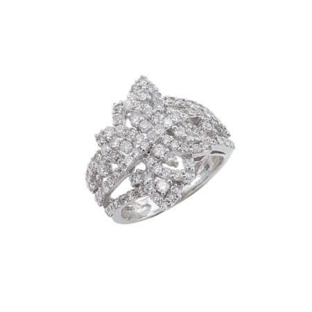 Λευκόχρυσο Δαχτυλίδι 18 Καράτια Διαμάντια