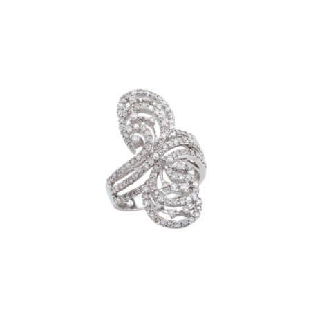 Λευκόχρυσο Δαχτυλίδι Με Διαμάντι 18 Καράτια