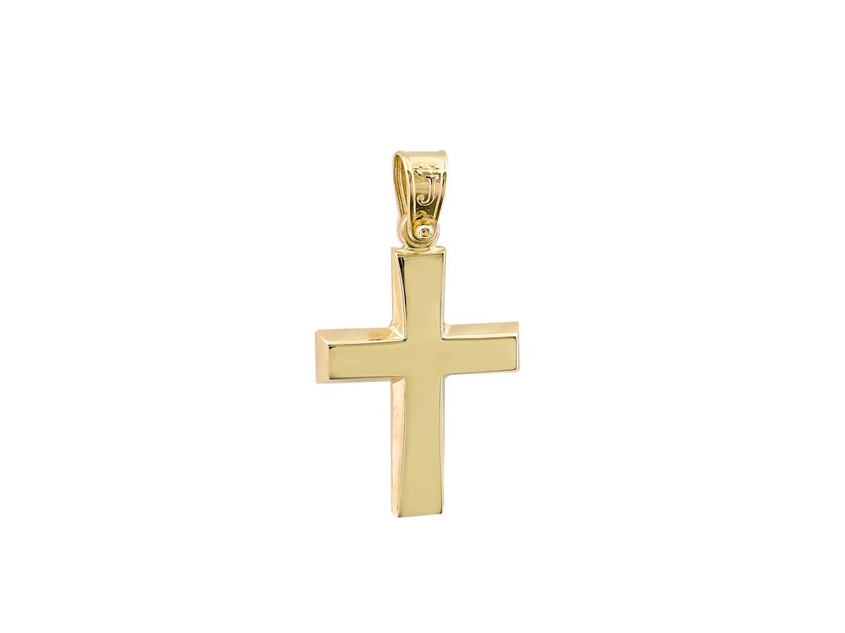 Σταυρός Χρυσός 14 Καράτια Λιτή Γραμμή Γυναικείος Ανδρικός Παιδικός Αρραβώνας Γάμος Βάπτιση