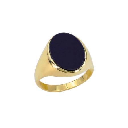 Χρυσό Αντρικό Δαχτυλίδι 14 Καράτια Όνυχα