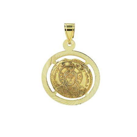 Χρυσό Μενταγιόν Λαιμού 9Κ Διπλής Όψεως