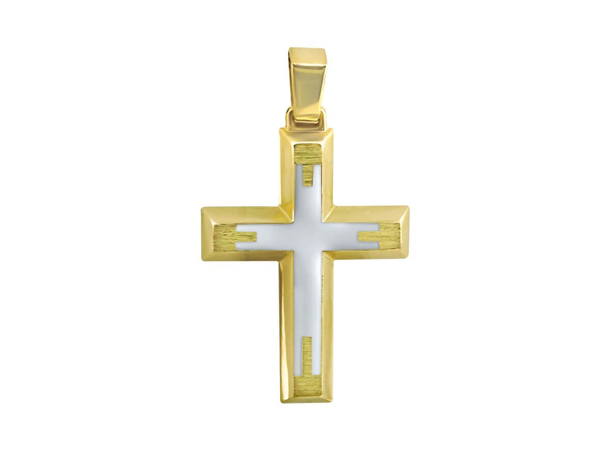 Σταυρός Βάπτισης Διπλής Όψεως Χρυσό 14Κ