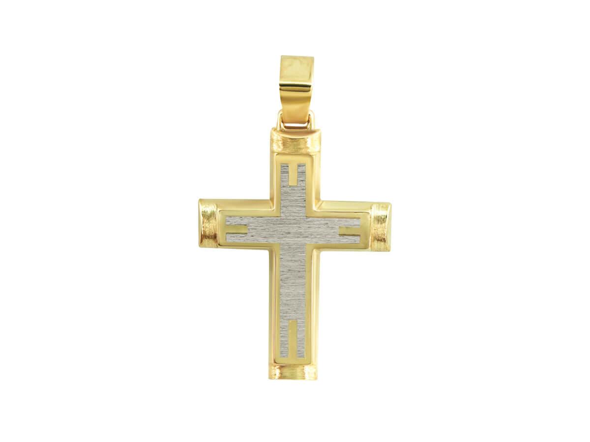 Σταυρός Χρυσός 14Κ Διπλής Όψεως