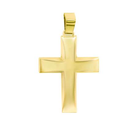 Σταυρός Βάπτισης και Αρραβώνα Χρυσό 9 Καράτια