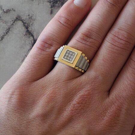Χρυσό Δαχτυλίδι Ανδρικό 14 Καρατίων