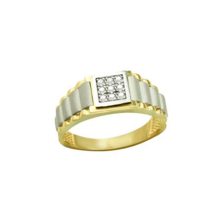 Αντρικό Δαχτυλίδι Χρυσό 14Κ
