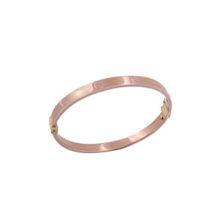 Βραχιόλι Ροζ Χρυσό 14Κ Χειροπέδα