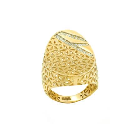 Δαχτυλίδι με Ζιργκόν Χρυσό 14 Καράτια