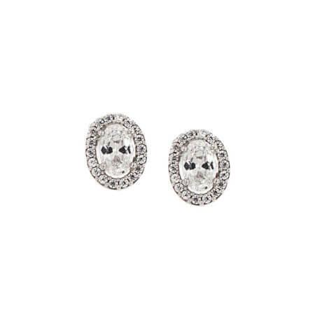 Σκουλαρίκια Ροζέτες 925 Ζιργκόν