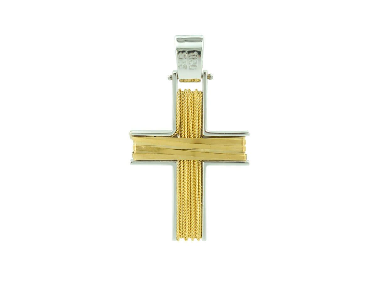 Μοντέρνος Χρυσός Σταυρός 14Κ
