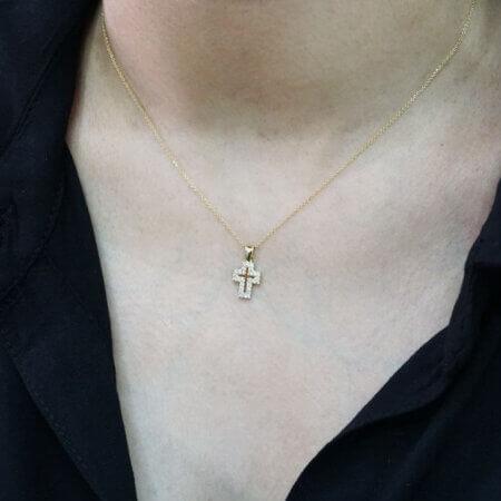 Σταυρός Ζιργκόν 925 Αλυσίδα