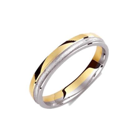 Βέρες 14 Καράτια Δίχρωμες Χρυσές Λευκόχρυσες Γάμου Αρραβώνα
