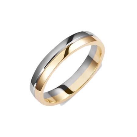 Βέρες από Λευκόχρυσο Κίτρινο Χρυσό 14 Καρατίων Γάμου Αρραβώνα
