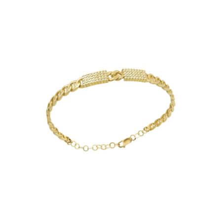 Χρυσό Βραχιόλι Χειροπέδα Αλυσίδα Ζιργόν Πέτρες