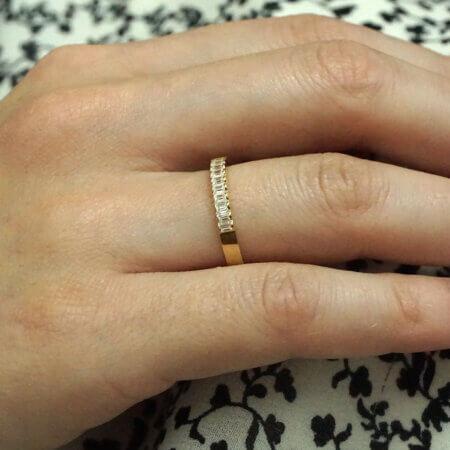 Δαχτυλίδι Μισόβερο Ζιργκόν Παγιέτα Χρυσό 14Κ Γυναικείο Κόσμημα Δώρο