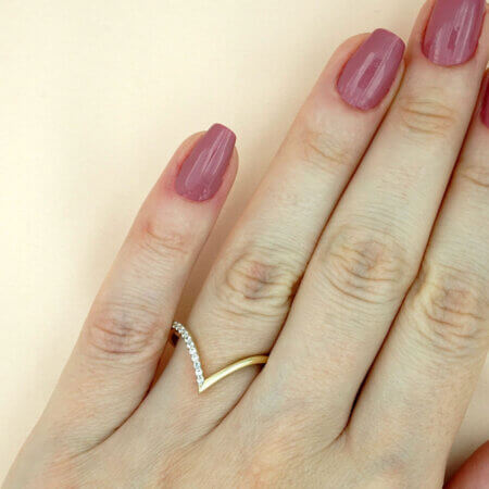 Δαχτυλίδι Χρυσό με Ζιργκόν Γυναικείο 14 Καρατίων