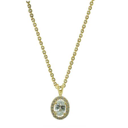 Επίχρυσο Μενταγιόν Ροζέτα 925 Ζιργκόν Πέτρες Λευκές Γυναικείο