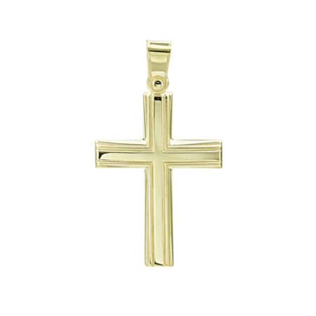 Κλασικός Σταυρός 14 Καράτια Χρυσός Γυναικείος Ανδρικός