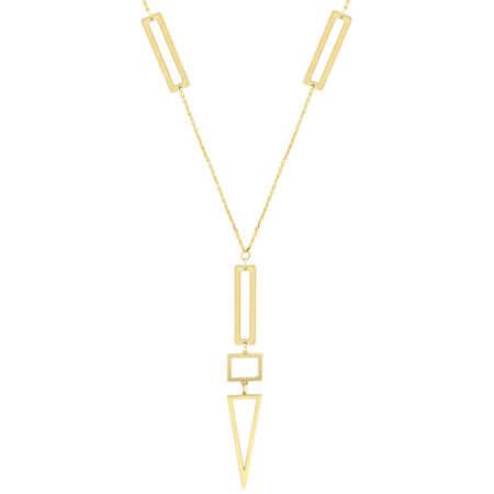 Κόσμημα Με Γεωμετρικά Σχήματα Σε Χρυσό 14Κ