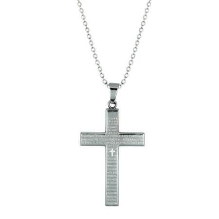 Μοντέρνος Ατσάλινος Σταυρός με Αλυσίδα Ανδρικός