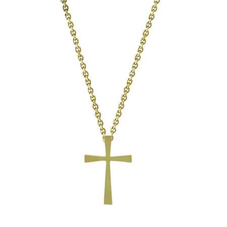 Σταυρός Επίχρυσος 925 Κλασική Γραμμή Αλυσίδα Γυναικείος Ανδρικός