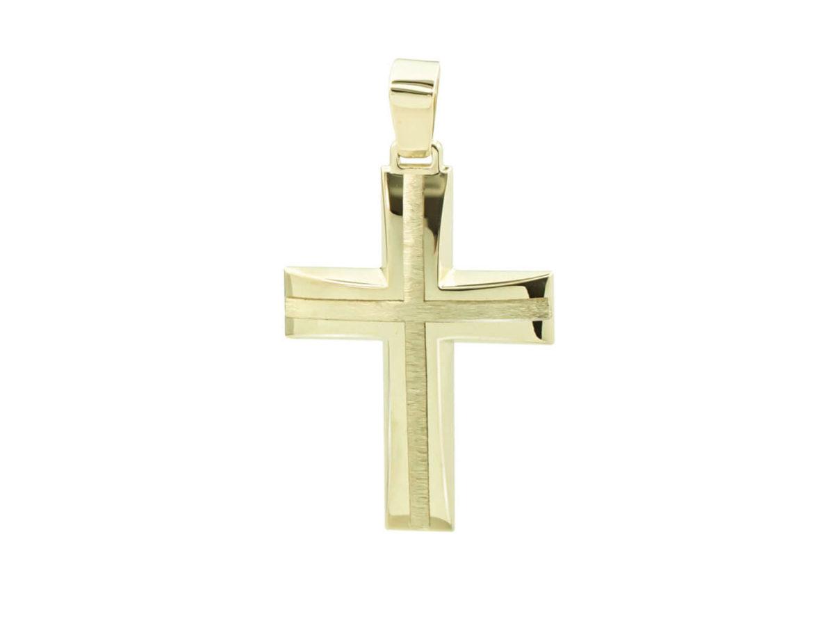 Σταυρός Βάπτισης Χρυσό 9Κ