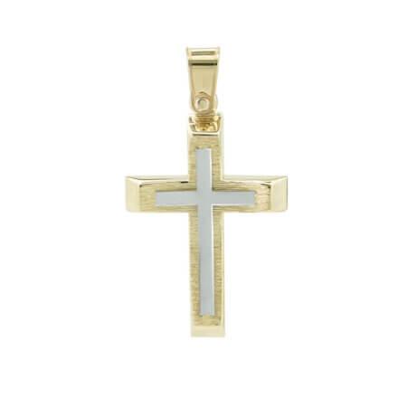 Χρυσός Σταυρός Βάπτισης Αγόρι 9Κ